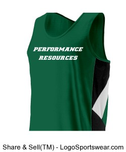Men's Race Singlet Green Design Zoom