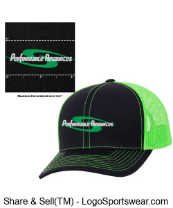 PR Trucker Hat Design Zoom